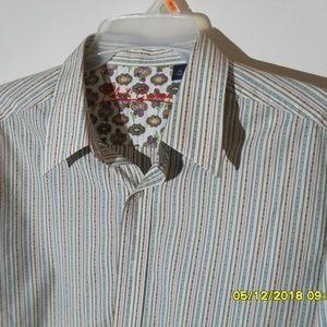 MEN'S BUTTON DOWN ROBERT GRAHAM DRESS SHIRT
